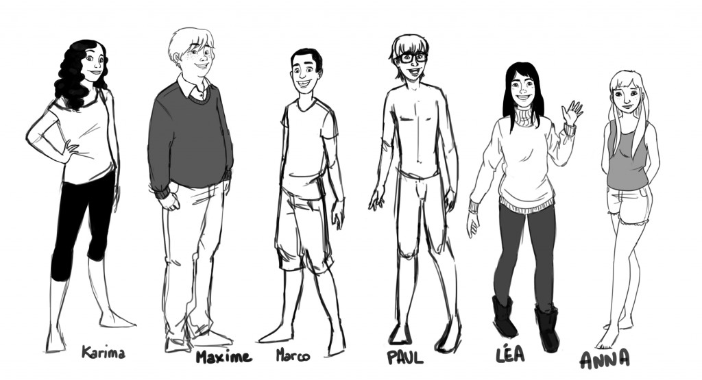 Character design adolescent