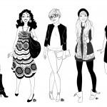 Création de 5 personnages pour l'association DDDM & Cie