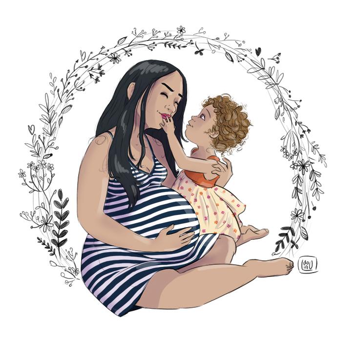 Entre nous illustration grossesse
